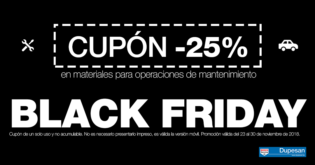 Cupón Dupesan Black Friday 2018