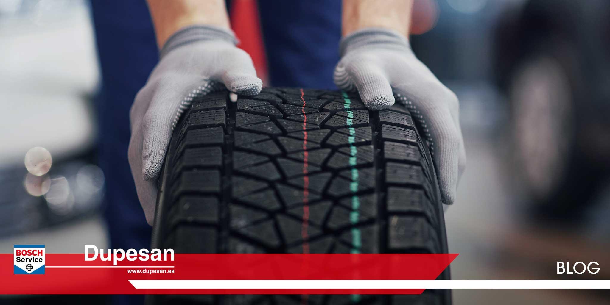 desgaste de los neumáticos del vehículo dupesan